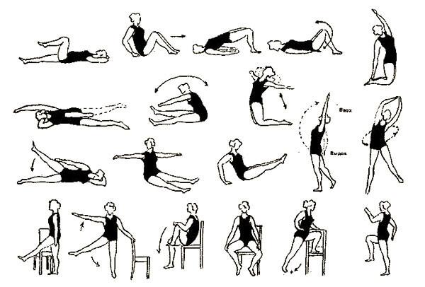 Общий комплекс упражнения при геморрое