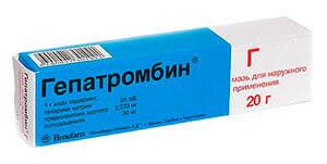 Воспаленные узлы смазывают Гепатромбином