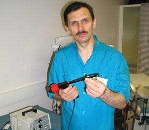 Подготовка аппарата к процедуре