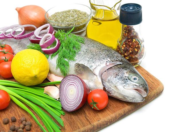Рыбу и мясо можно употреблять в печенном и варенном виде