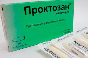 Свечи Проктозан для лечения геморроя