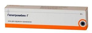 Мазь Гепатромбин можно применять при поздних сроках беременности