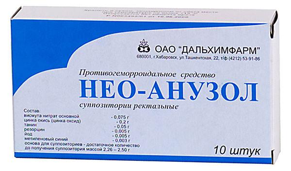 Противогеморроидальное средство Нео-Анузол