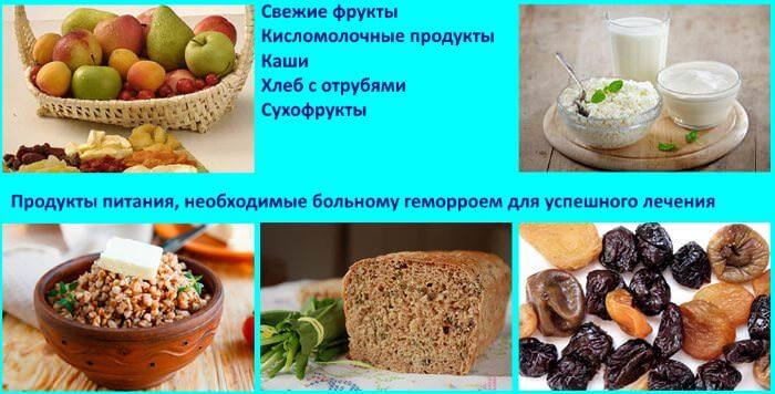 Продукты питани, необходимые больному для успешного лечения