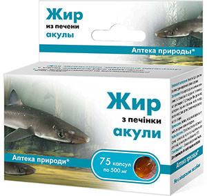 Основной компонент препаратов группы Релиф - жир акульей печени