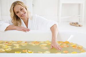 Для ванн используют теплую воду