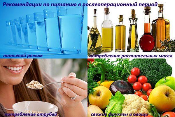 Рекомендации по питанию в послеоперационный период