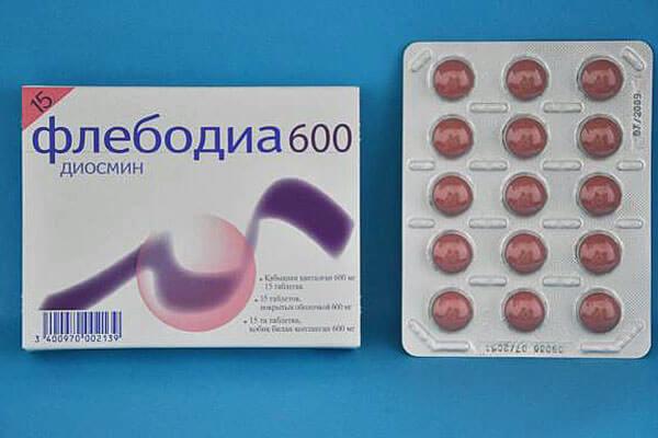 Флебодиа 600 обладает ангиопротекторными и венотонизирующими свойствами