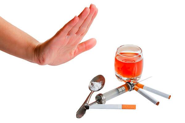 Профилактика сфинктерита включает в себя отказ от алкоголя и табака